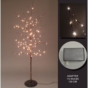 Hi-Line Gift 37373, 112 Floral Lights, Tree with 112 Rice Lights