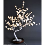 Hi-Line Gift 37380, 128 Floral Lights, Bonsai Tree, 128 Warm White LED Lights, White Trunk