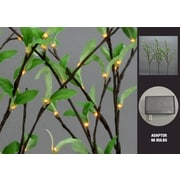 Hi-Line Gift 37383, 96 Floral Lights, Willow Branch with Leaves, 96 LED Lights