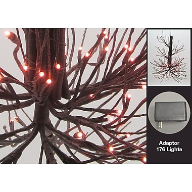 Hi-Line Gift – Lustre à rameaux lumineux, 176 DEL, brun