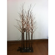 Hi-Line Gift Floral Lights, Tree with 96 Rice Lights, 5 Trunks