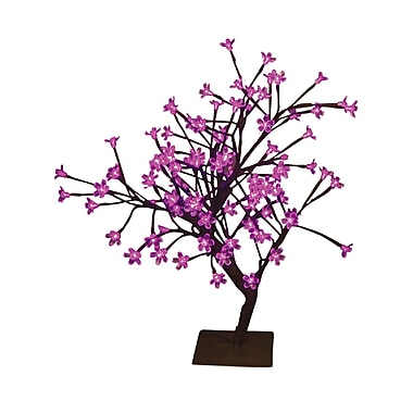 Hi-Line Gift Floral Lights, Bonsai Tree, Indoor/Outdoor, Pink