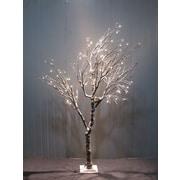 Hi-Line Gift – Arbre recouvert de neige avec nid d'oiseau, 120 DEL, intérieur seulement, 37412-120