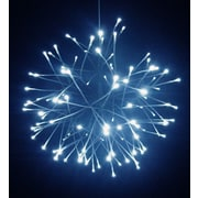 Hi-Line Gift 37423-WT, Floral Lights- Starburst with 110 Cool White LED Lights, White Branch