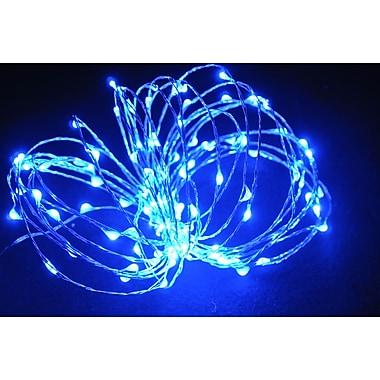 Hi-Line Gift – Guirlande de lumières DEL, 120 DEL, 6 m, bleu