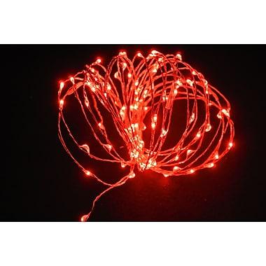 Hi-Line Gift – Guirlande de lumières DEL, 120 DEL, 6 m, rouge