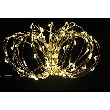 Hi-Line Gift – Guirlande de lumières DEL, 120 DEL, 6 m, blanc chaud