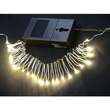 Hi-Line Gift – Guirlande de lumières DEL, 36 DEL, 2,75 m, fonctionnement à piles, blanc