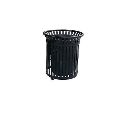 Paris Site Furnishings Premier Litter and Trash Receptacle, 34-Gallon, Red (460-304-0010)