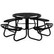 "Paris Site Furnishings JX Series Round Picnic table, 46"", Built-In Umbrella Support"