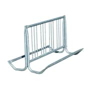 "Paris Site Furnishings Traditional 8-Bike Rack, 64"", Silver (462-615GV)"