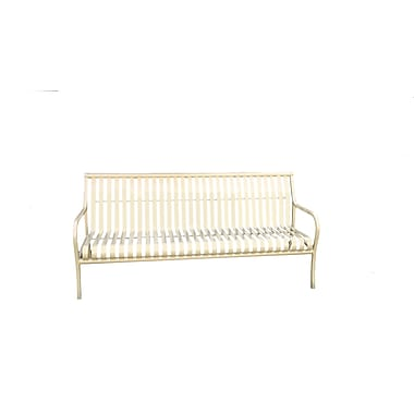 Paris Site Furnishings – Banc avec dossier premium, 6 pi, rouge (460-023-0010)