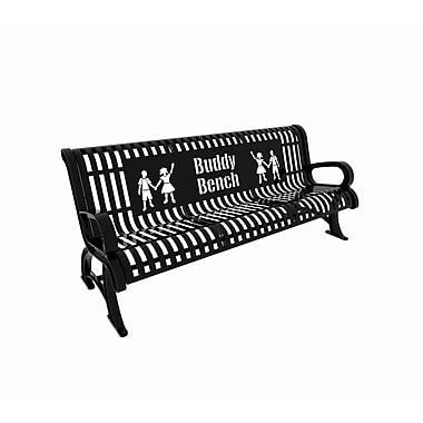 Paris Site Furnishings – Banc d'ami Premium, 6 pi, anglais, noir (460-332-0006)