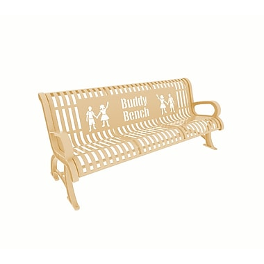 Paris Site Furnishings – Banc d'ami Premium, 6 pi, anglais, havane (460-332-0011)