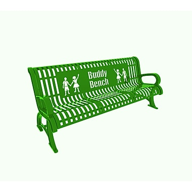 Paris Site Furnishings – Banc d'ami Premium, 6 pi, anglais, vert pâle (460-332-0081)