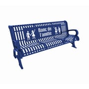 Paris Site Furnishings Premium Buddy Bench, 6 ft, French