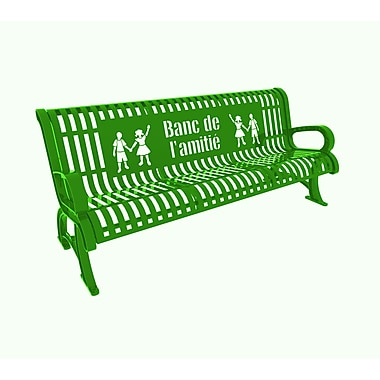 Paris Site Furnishings – Banc d'ami Premium, 6 pi, français, vert pâle (460-336-0081)