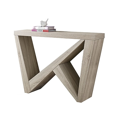 Monarch – Table d'appoint I 2435, 48 long. (po), console d'entrée, taupe foncé