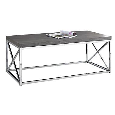 Monarch – Table de salon I 3225, gris et métal chromé