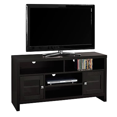 Monarch I 2704 TV Stand with Glass Doors, 48