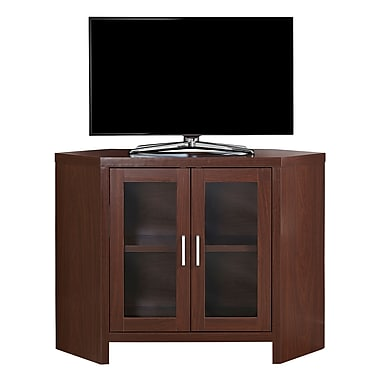 Monarch I 2702 TV Stand with Glass Doors, 42