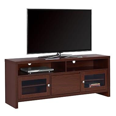 Monarch – Meuble TV I 2710 avec portes en verre, 60 po de long, cerisier chaud