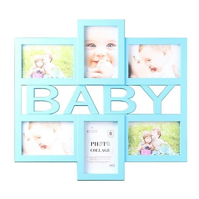Wee's Beyond Blue Baby 6 Piece Picture Frame Set; Blue WYF078279526126