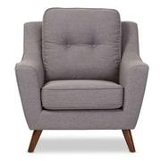 Wholesale Interiors Baxton Studio Mercede Upholstered Club Chair; Light Gray