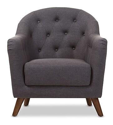 Wholesale Interiors Niccolo Baxton Studio Armchair; Dark Gray