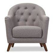 Wholesale Interiors Niccolo Baxton Studio Armchair; Light Gray