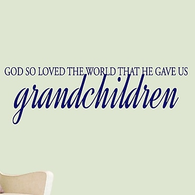 SweetumsWallDecals God Gave Us Grandchildren Wall Decal; Navy
