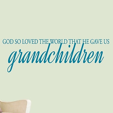 SweetumsWallDecals God Gave Us Grandchildren Wall Decal; Teal