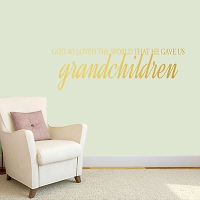 SweetumsWallDecals God Gave Us Grandchildren Wall Decal; Gold