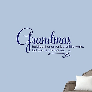 SweetumsWallDecals Grandmas Hold Our Hands Wall Decal; Navy