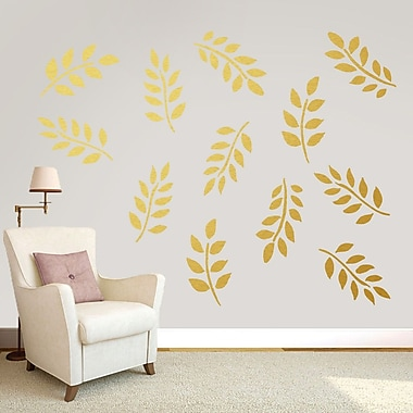 SweetumsWallDecals Leafy Branches Pack Wall Decal; Gold