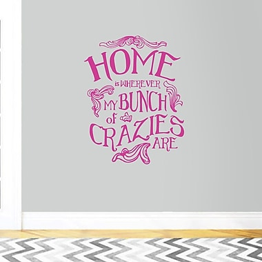 SweetumsWallDecals My Bunch of Crazies Wall Decal; HotPink