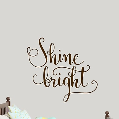 SweetumsWallDecals Shine Bright Wall Decal; Brown