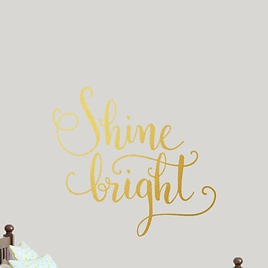 SweetumsWallDecals Shine Bright Wall Decal; Gold