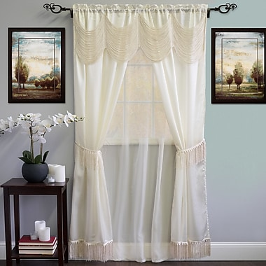 Sweet Home Collection Thermal Blackout Curtain Panels; Ivory