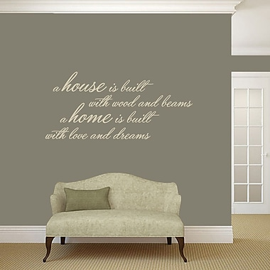 SweetumsWallDecals A House Is Built Wall Decal; Beige
