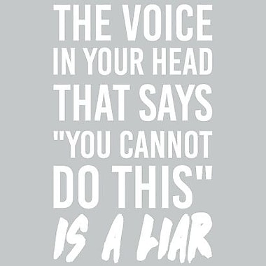 SweetumsWallDecals That Voice in Your Head Wall Decal; White