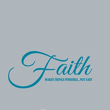 SweetumsWallDecals Faith Makes Things Possible Wall Decal; Teal