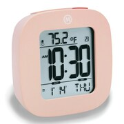 Marathon Watch Company Marathon Compact Alarm Clock w/ Temperature and Date; Pink