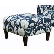 Carolina Accents Briley Ottoman; Navy