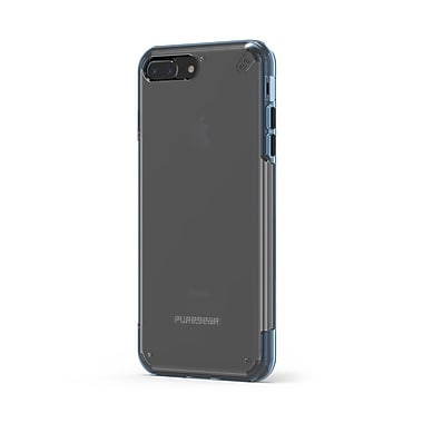 Puregear – Étui Slim Shell Pro pour iPhone 8Plus/7, transparent/bleu (61594PG)