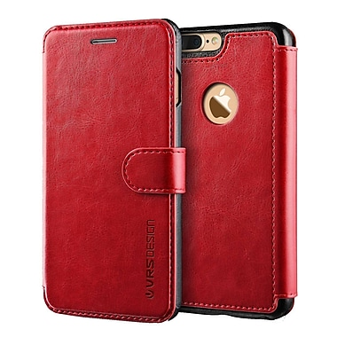 VRS Design – Étui portefeuille Layered Dandy pour iPhone 8/7, rouge vin (VRIP7LDDRD)