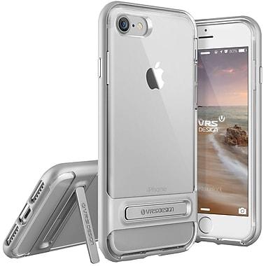 Vrs Design – Étui Crystal Bumper pour iPhone 7, argent satiné (VRIP7CRBSS)