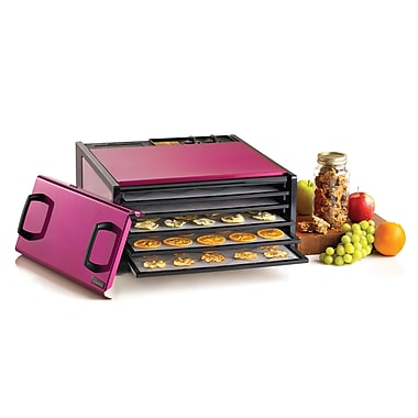 Excalibur 5 Tray Radiant Raspberry Stainless Steel Dehydrator