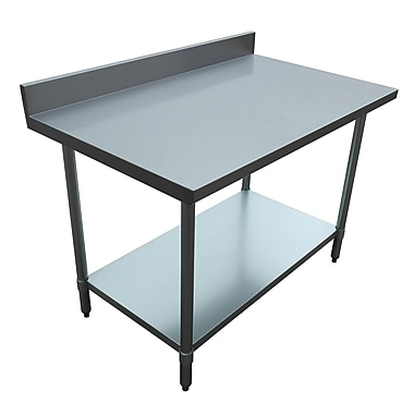 Excalibur – Table commerciale en acier inoxydable, 30 x 48 x 34 po