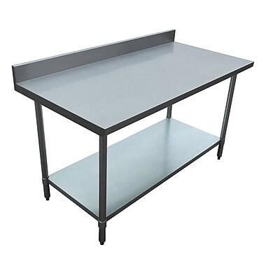 Excalibur – Table commerciale en acier inoxydable, 30 x 60 x 34 po
